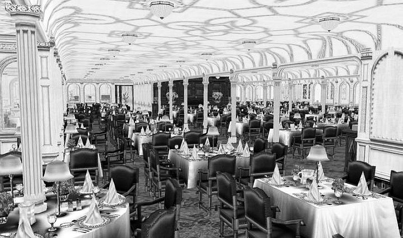 RMS Titanic 1st Class Dining Room