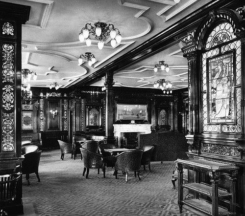 RMS Olympic 1st Class Smoking Room
