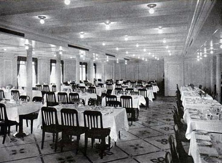 RMS Titanic 2nd Class Dining Room