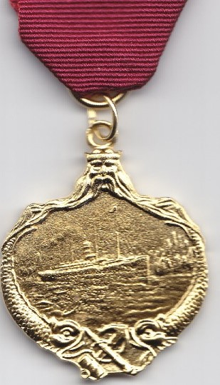 Replica medal presented to Captain Arthur Henry Rostron